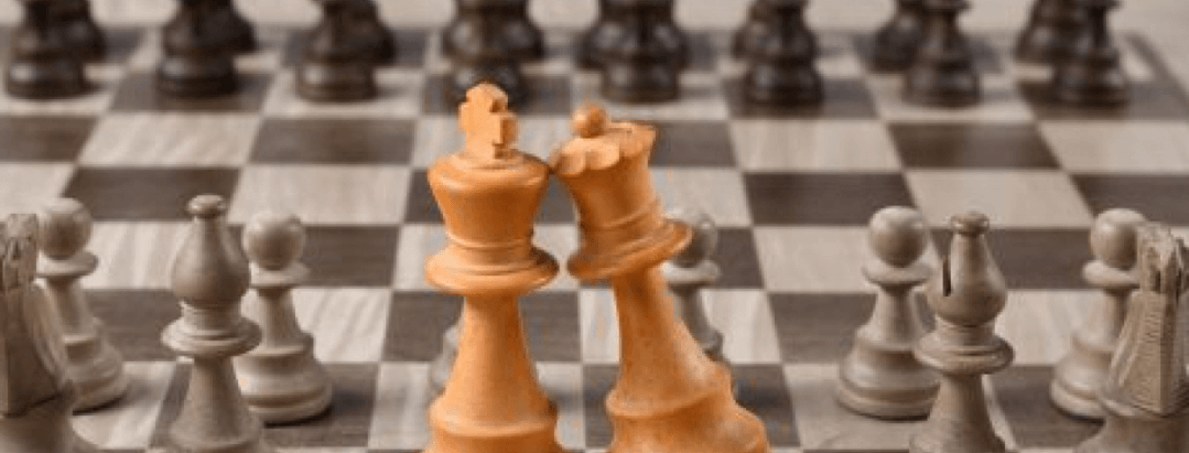 Chess game king and queen