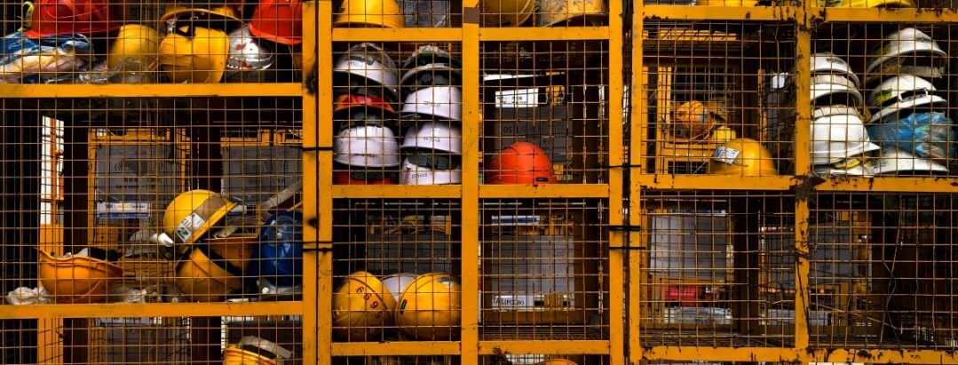 Industrial hard hats for employees