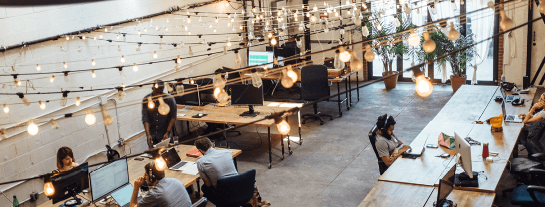 small business working in collaborative space