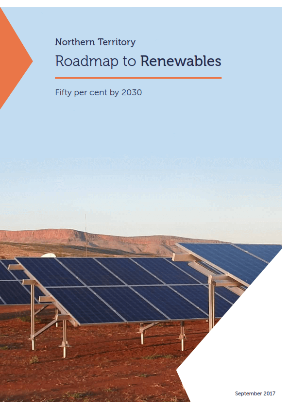 Cover image of Road map to Renewables Northern Territory Report
