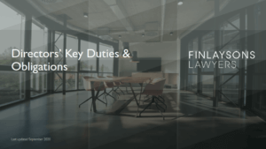 The Directors Handbook Guide by Finlaysons Lawyers